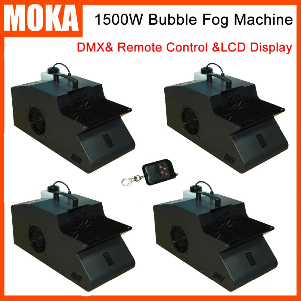 4Pcs/lot 1500w Fog Bubble Machine For Wedding Stage Party Stage Bubble Maker Machine Bubble Blower With Fogger Effect