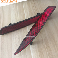 Pair Red Rear Left Right Bumper Reflector Tail Light Bars Brake Parking Warning For VW Volkswagen