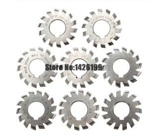 Image 1 - 8 Uds. NO.1 NO.8 herramientas de corte de engranaje de acero rápido, M0.4, M0.5, M0.6, M0.7, M0.8, M1, M1.25, M1.5, M2, M3, M4, Modulus PA20 grados