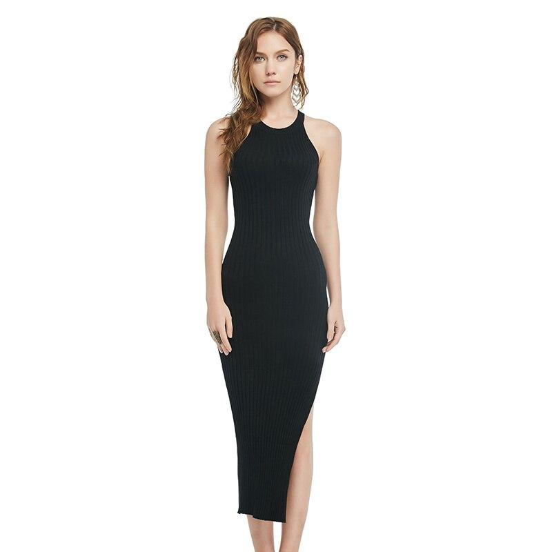 d31a0fbb8c0 2018 новые модные женские туфли пикантные вечерние платье вязать стиль  водолазка с длинными рукавами ...