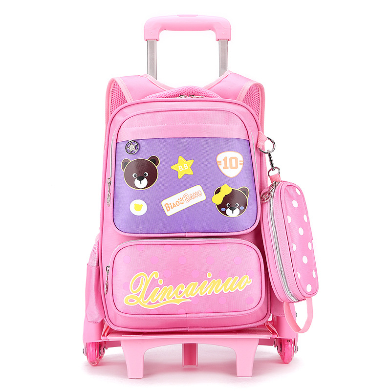 2017 Wheeled School Backpack Wheels Kids Travel Trolley Bag Schoolbag Children School Bags For Girls Detachable Mochila Escolar