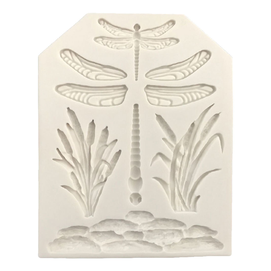 Hot Sale!Dragonfly Grass <font><b>Cake</b></font> Border Decoration <font><b>Silicone</b></font> <font><b>Mold</b></font> <font><b>Fondant</b></font> <font><b>Cake</b></font> <font><b>Decorating</b></font> <font><b>Tools</b></font> Candy Chocolate Gumpaste <font><b>Molds</b></font> image