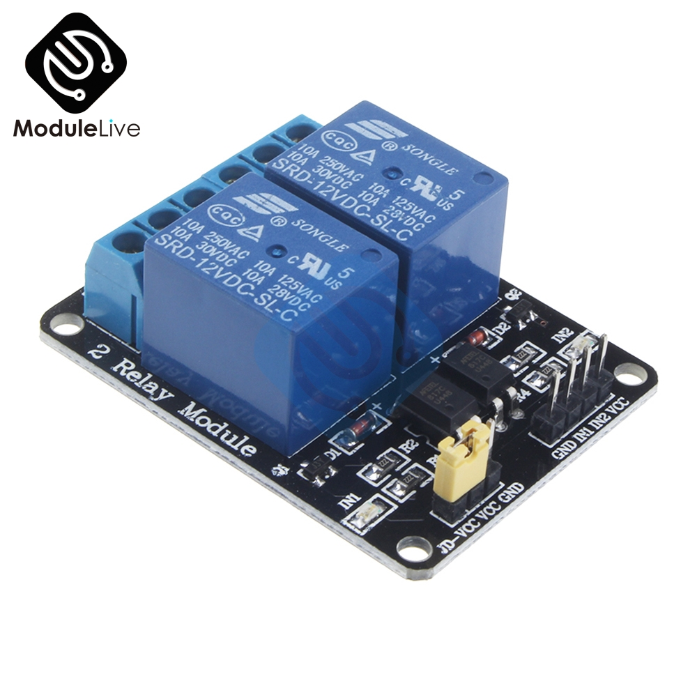 12V 2CH 2 Channel Relay Module Shiled Relay Expansion Board Low Level Triggered 2V Relay interface board for Arduino
