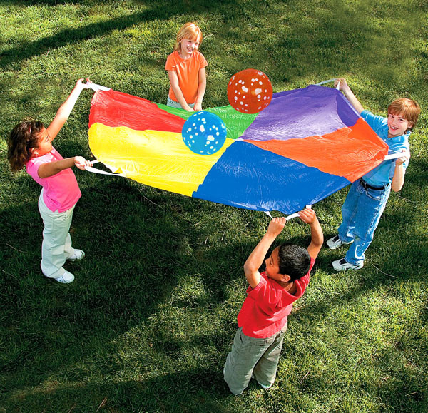 ФОТО 1SET/LOT,3.65meter(143.7inches).Super Sturdy Parachute.umbrella.Outdoor toys.Teamwork toys.Team games.Kindergarten games