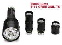 3 To 11 XML T6 LED 50000 Lumen Outdoor Lighting Waterproof Flash Light Flashlight Torch Lantern