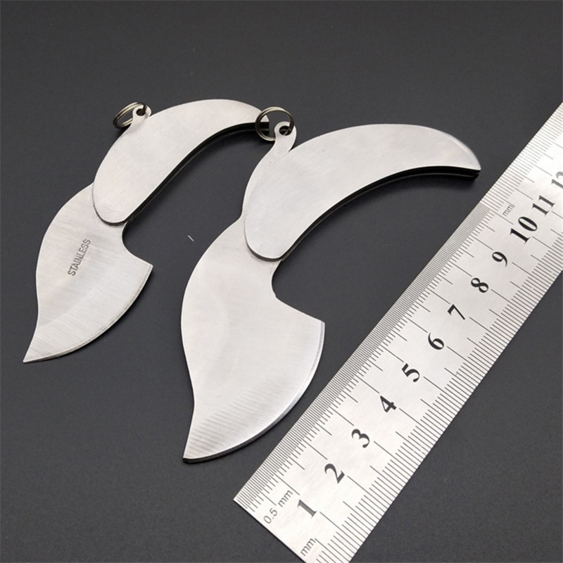 Boutique Mini Portable Gift Utility Knife Leaf Knife Outdoor Multi-function Folding Keychain Necklace Cute Knife