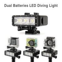 TELESIN Diving Lights POV Flash LED Fill Night Light Underwater 30m Waterproof Light Mount Kit For