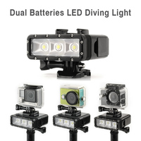 TELESIN Waterproof Diving Light Underwater 30M POV Flash Dimmable LED Night Fill Light for GoPro 7 6 5 4 3, Xiaomi Yi, SJ5000