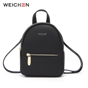 Image 1 - WEICHEN Designer Fashion Women Backpack Soft Leather Female Small Backpacks Ladies Shoulder Bag Mochila Back Pack 2020 Bagpack