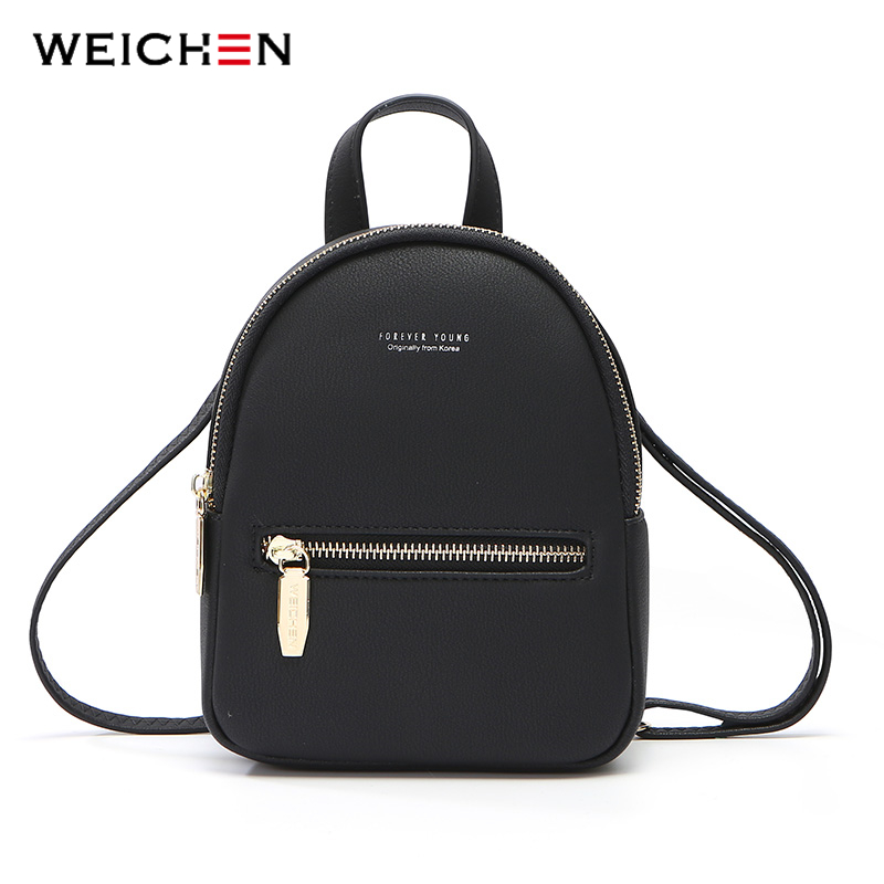WEICHEN nuevo diseñador de las mujeres de la moda mochila Mini suave Multi-función pequeña mochila mujer señoras bolso de chica, bolso