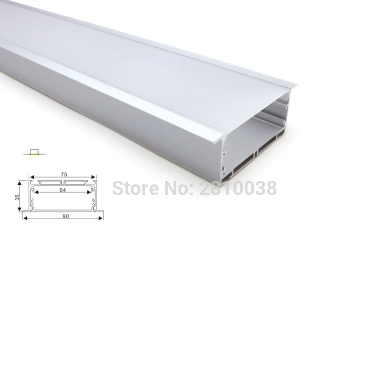 10 X 1M Sets/Lot 90mm width aluminium led profile and wide T-shape led strip profile for ceiling or wall lights 10 x 2m sets lot 6000 series led aluminium profile for led strip ultra big t size aluminum led housing for ceiling lamps