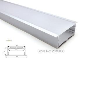 10X1 M ensembles/Lot 90mm largeur aluminium led profil et large t-forme profil de bande à led pour plafonniers ou appliques