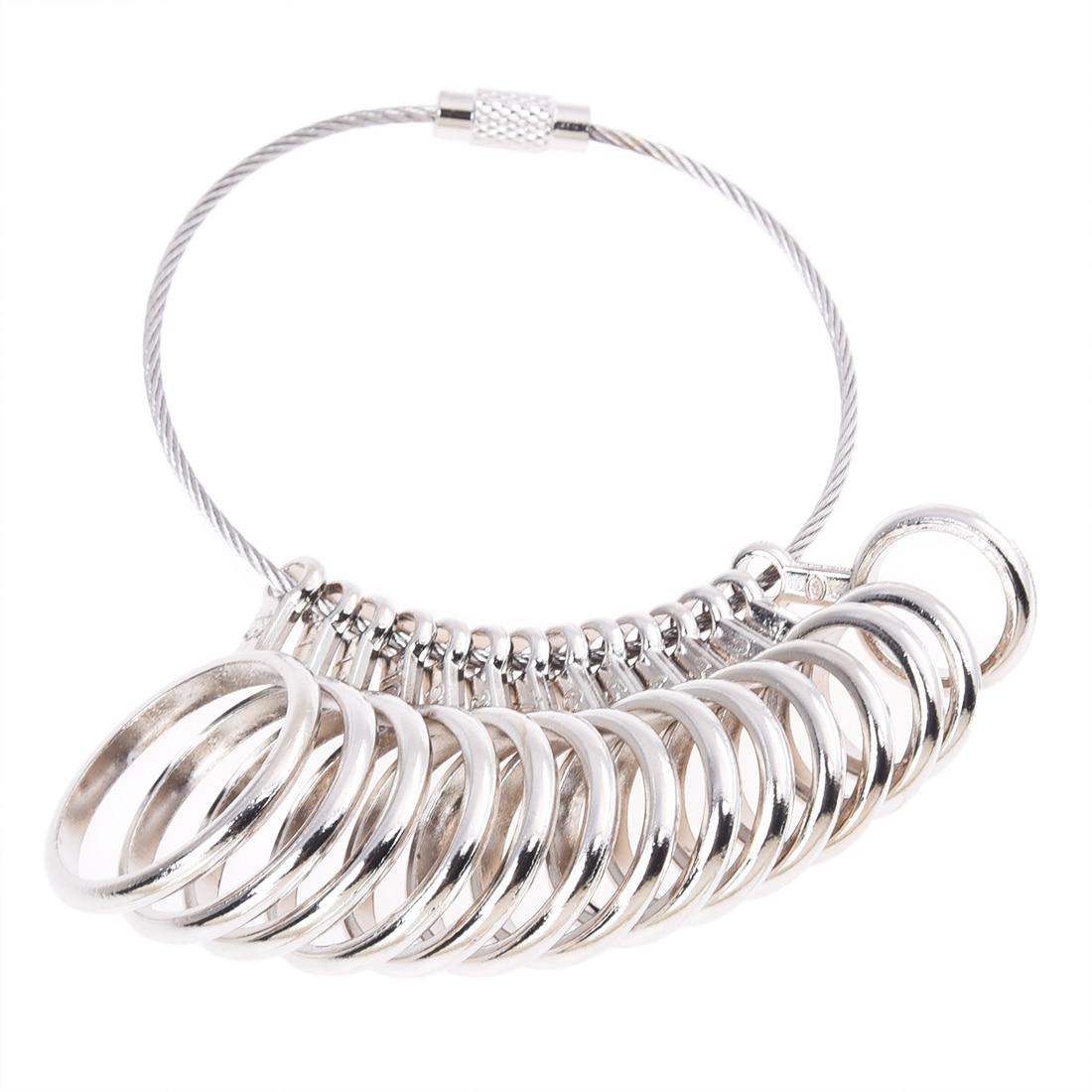 Zinc Alloy Finger Ring Sizer Gauge Jeweler Sizing Tool US Size: 1-13
