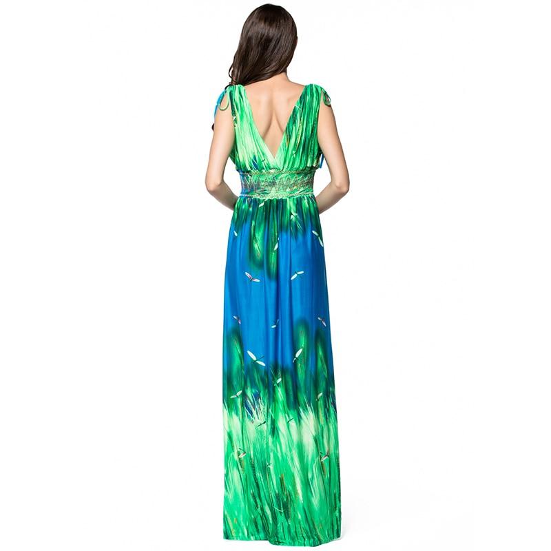Venta caliente 2019 comprar real super barato se compara con Vestidos largos de verano 2018 Summer Women Plus Size 6XL 7XL Boho Dress  for Holiday V Neck Sleeveless Long Maxi Beach Dress-in Dresses from Women's  ...