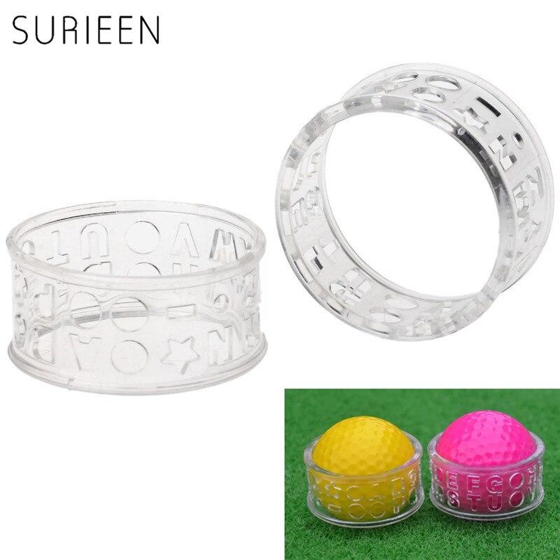 SURIEEN 1 PC סמן שורת אוניית כדור גולף עזרי הדרכה גולף אותיות האלפבית תבנית שקוף Monogrammer הציור מארק כלים