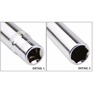 Image 4 - 11 pcs 1/4 inch Drive Deep Socket Set CRV Hand Tools 6 Point Long Socket Hex Repair Tool