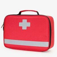 Kit de primeros auxilios para exteriores  bolsa de mensajero cruzada impermeable de nailon rojo para deportes al aire libre  bolsa de emergencia para viaje familiar DJJB030