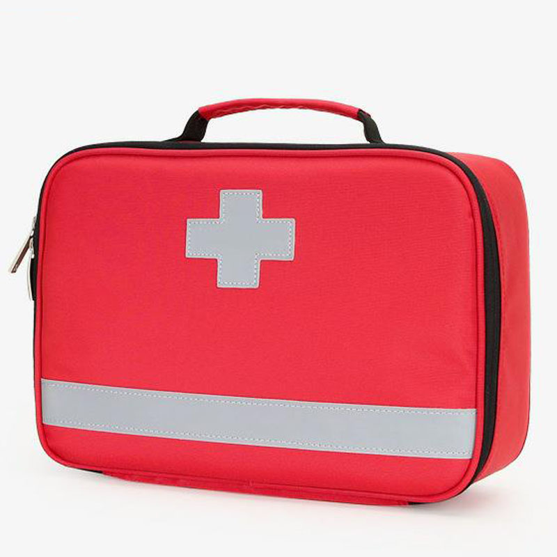 Outdoor First Aid Kit Outdoor Sports Red Nylon Waterproof Cross Messenger Bag Family Travel Emergency Medical Bag DJJB030