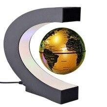 C shape LED World Map Decor Electronic Magnetic Globe Anti gravity