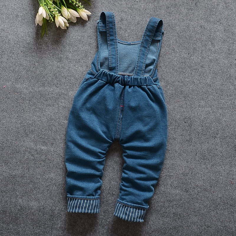 Image 4 - 2020 New Hot Spring Baby Girls Clothing Set Children Denim overalls jeans pants + Blouse Full Sleeve Twinset Kids Clothes Setpants spandexpants femalepants nylon -