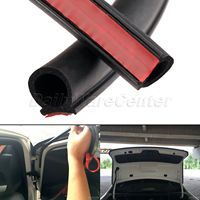 8M Large D Shape Rubber Hollow Air Sealed Seal Strip Sound Insulation Car Door Window Sealing