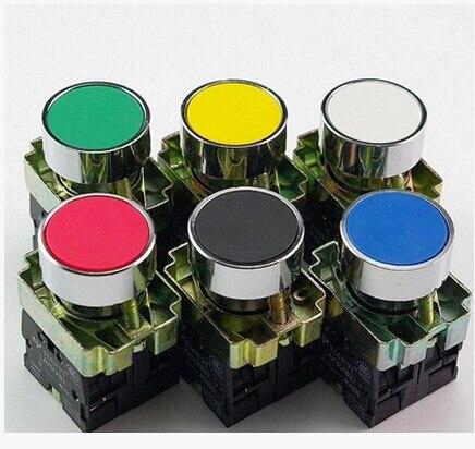 цена на 5pcs/Lot XB2 BA51 XB2-BA51 YELLOWSelf-reset Momentary Flush Pushbutton 1 N/O Flat Push Button Switch