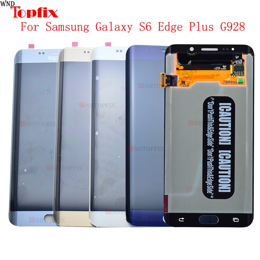 Lcd Display Touch Screen DigitizerAssembly For Samsung Galaxy S6 Edge Plus G928F G928A G928I Super AMOLED LCD Replacement Parts (7)