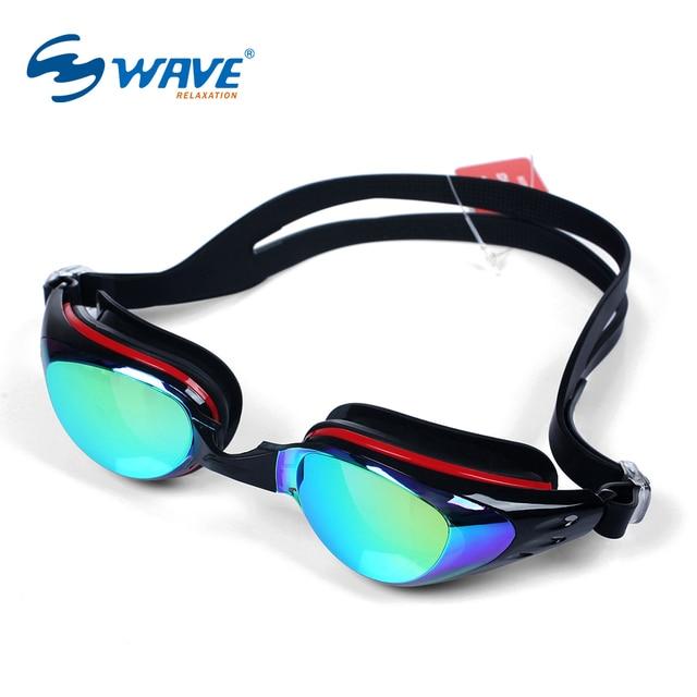 WAVE -1.5~-6.0 Anti Fog Re-UV Myopia Swimming Goggles Women Men Professional Waterproof Diopter Swim Glasses