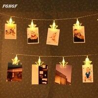 FGHGF 3 M 20LED Çelenk Kart Fotoğraf Klip Peri Dize Işıklar Noel Partisi Düğün Aydınlatma Lamba Açık Ev Bahçe dekor