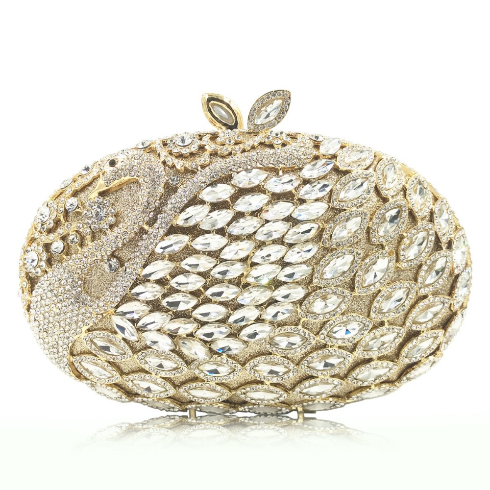Ladies Gold/red/pink Crystal Evening Clutch Bag Rhinestones Bridal Wedding Clutches Purse Women Party Mini Dinner Handbags new 2017 silver red gold blue white crystal beaded clutch bag wedding bridal day clutches party dinner purse chains handbags