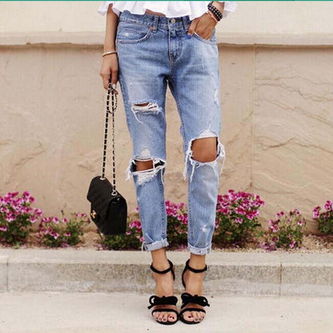 Ripped Baggy Jeans | Bbg Clothing