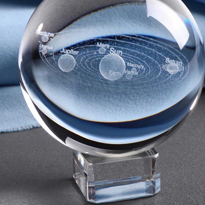Regalo per Astrophile 6 CM Incisa Al Laser di Sistema Solare Palla 3D In Miniatura Modello di Pianeti Sfera Globo di Vetro Ornamento Complementi Arredo Casa