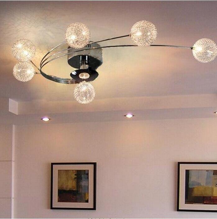 Moderno G4 De Cristal Led Luces De Techo De Aluminio Abajur Lampara - Iluminacion-de-techo