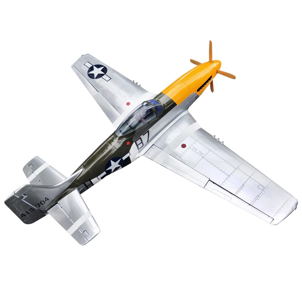 NEW P-51 Mustang 20cc 68/1730mm Balsa Wood Gas Airplane Model Scale Plane With Carbon Fiber Spinner Retract Landing Gear image