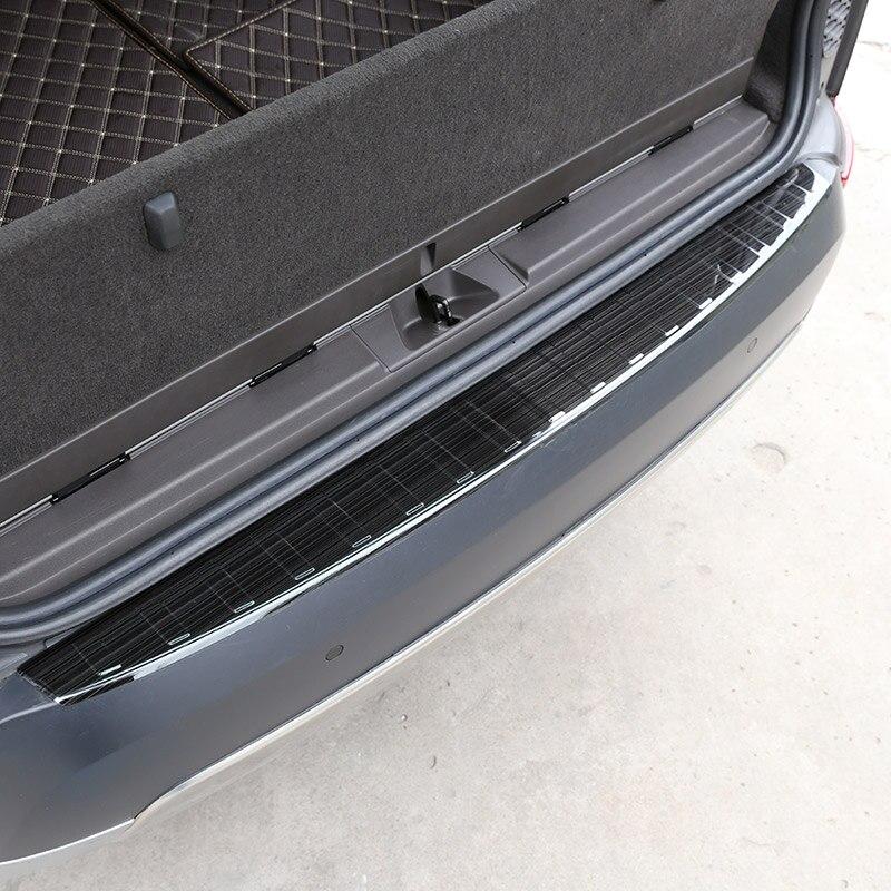 Inoxydable noir Extérieur Arrière Queue de Seuil Seuil Protecteur Plaque De Recouvrement Pour Land Rover Discovery 5 L462 2017 2018 LR5