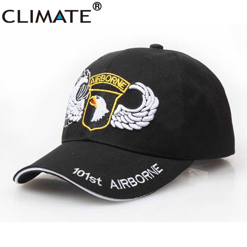 Gorra de béisbol negra militar de la Fuerza Aérea de los hombres del clima  101st Airborne 89dbdf5e1f4