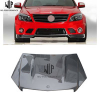 C Class Carbon fiber AMG type engine hood cover bonnet hoods with Car body kit for Mercedes Benz W204 07 11 Car styling use