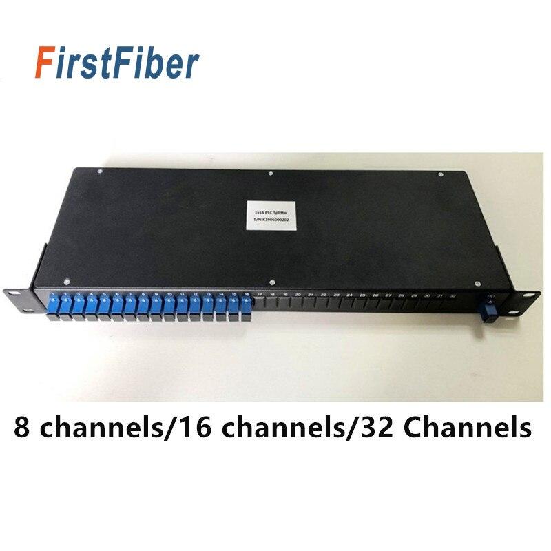 Divisor PLC Montado en Rack 1 U alto 19 pulgadas 8 canales 16 canales 32 canales opcional SC APC/UPC conector/Adaptador Conector rápido FTTH SC APC, 100 Uds., 50 Uds., fibra óptica de modo único, conector rápido SC UPC, adaptador de fibra óptica de cola recta