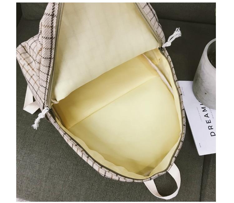 HTB19NMPa.CF3KVjSZJnq6znHFXa5 2 Pieces Japan style Plaid Style Women Backpack Pencil Case Student Girl School Bag Travel Shoulder Bag For Women 2019 Bagpack