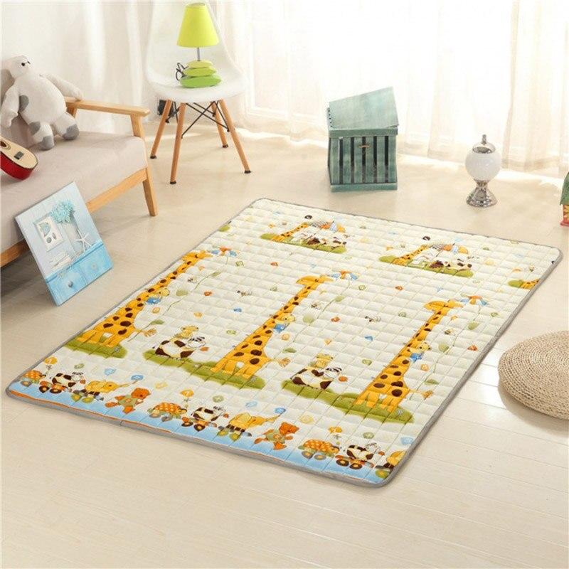 2.5cm quatre saisons épais bébé coton tapis d'escalade antidérapant bébé ramper tapis salon tapis de sol chambre tapis pour bébé cadeau - 3