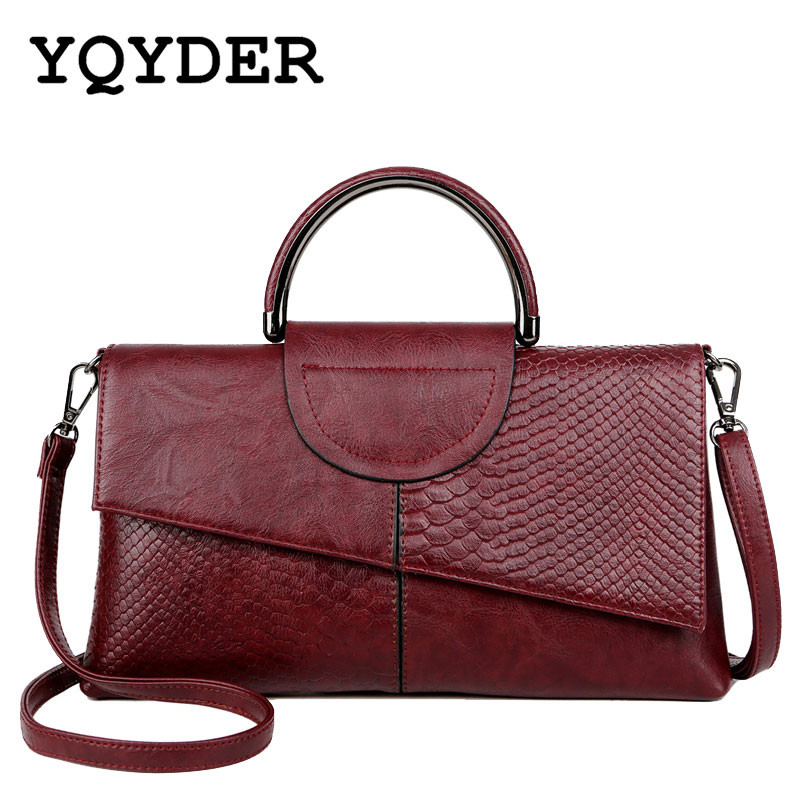 Brand High Quality Serpentine Leather Women Bags Luxury Stitching Shoulder Bag Lady Casual Tote Messenger Bag Female Sac A Main