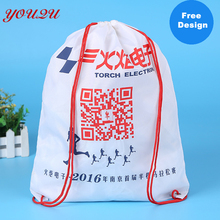 customized Lead free 210d nylon polyester drawstring bag backpack bag lowest price and escrow accepted