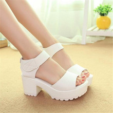 Fashion sandals women Summer shoes Woman wedges platform sandals high heel soft pu women shoes sanglaide shoes thick heel N005