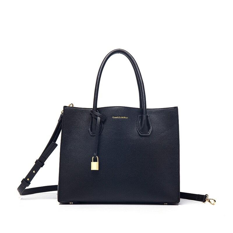 Femmes sac designer serrure en cuir sacs à main femme fourre-tout bureau OL grand sac sac à bandoulière femmes Messenger sacs dame Top-poignée embrayage
