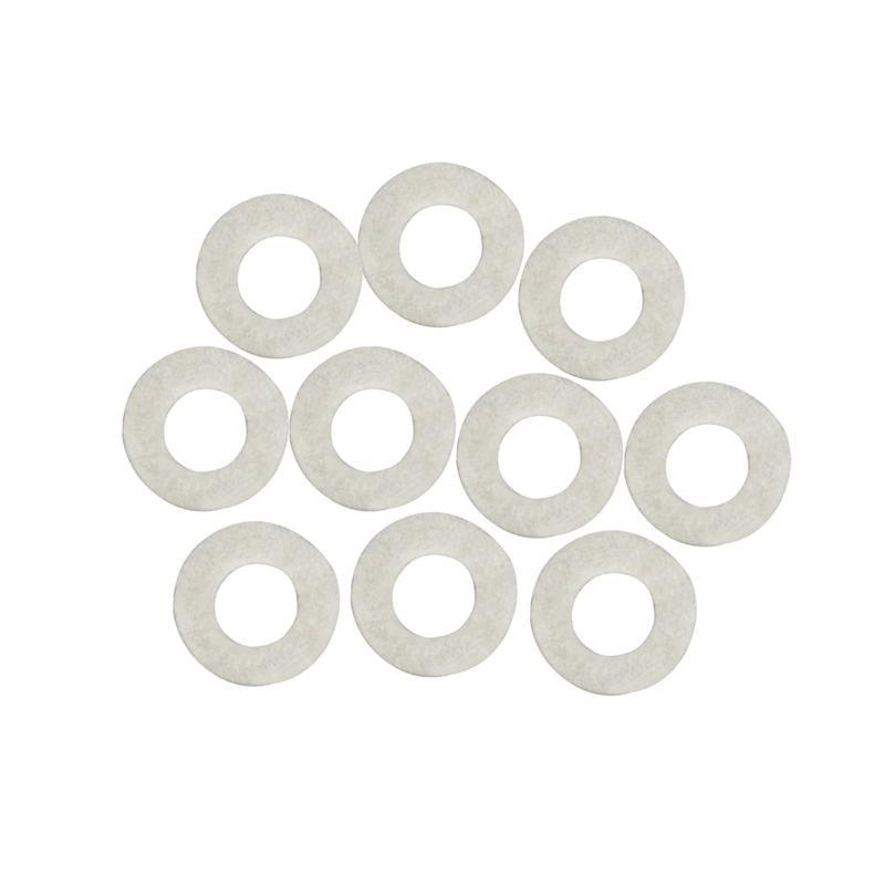 10pcs Cotton Felt Mats Trumpet Key Pad For Trumpet Trombone Repair Accessories Diameter 1.8mm Thickness 3mm