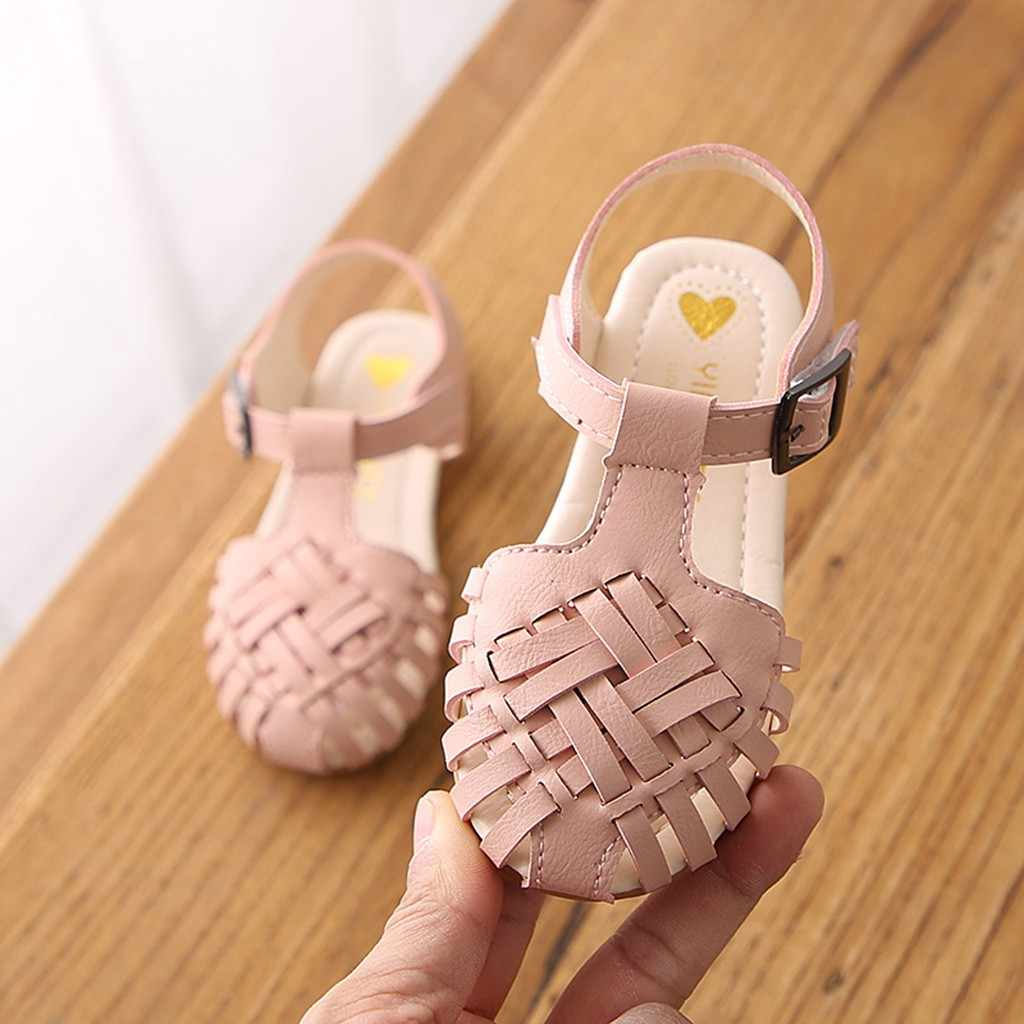 Children Shoes Toddler Girl Beach Sandals Casual Fashion Spring Shoe Cute Weaving Dance Shoe Solid Soft Princess Sandals Sneaker