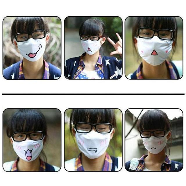 New Kwaii Cute Anti Dust Mask Kpop Cotton Mouth Mask Emotiction Masque Kpop Masks Anime Cartoon Mouth Muffle Face Mask 1