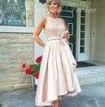 Vestido de madrina 2017 Nueva Alto Bajo Madre De La Novia vestido de Lentejuelas Arco de Cuentas Por Encargo Más El Tamaño de La Madre Del Novio Vestidos