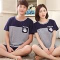 Милые Baymax пижамы наборы для пары полосатый отпечатано женщины pajama наборы горячий продавать пижамы XXXL мужские эластичный ждать короткий