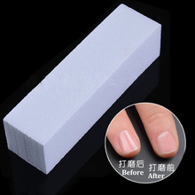 1pcs sanding buffer block for UV n ail polish m anicure tool pedicure white form file